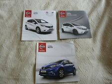 NISSAN NOTE CAR BROCHURES X 3 ALL UK 2015 EXCELLENT
