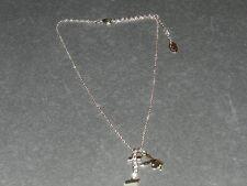 pedant silver tone necklace New Playboy Tm Playboy Tm Crystal eye bunny and 'I'