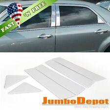 US 6Pcs Stainless Steel Chrome Door Pillar Post Trim For Chrysler 300 300C 05-10