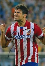 ATLETICO MADRID HAND SIGNED DIEGO COSTA 12X8 PHOTO PROOF.