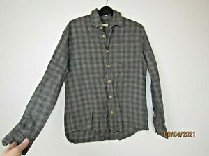 Folk Shirt Grey Check size 3 Small M