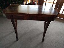 Regency Tea Table, Mahogany, Sabre Legs, Fold Out.
