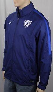 Nike Blue Hoodie Jacket USA National Soccer Team Storm Fit NWT