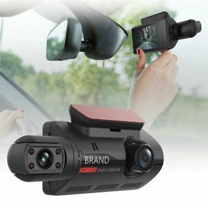 Dual Lens Front+Inside Camera Car DVR Dash Cam Night Vision Parking Monitoring
