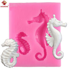Sea Horse Silicone Fondant Molds DIY Chocolate Mould Flexible Soap Mold Tool