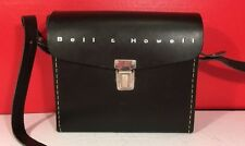 Bell & Howell Vintage Black Leather Camera Case With Shoulder Strap