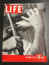 LIFE Magazine, September 20th 1937