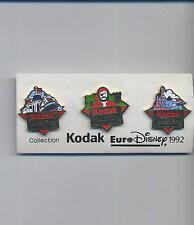 pin badge KODAK collection EURO DISNEY 1992 set 3 pin 021gi