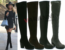 Unbranded Block Over Knee Boots Synthetic Shoes for Women