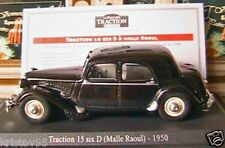 CITROEN TRACTION 15 SIX D MALLE RAOUL 1950 1/43 NOIRE UNIVERSAL HOBBIES ATLAS