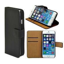 Wallet Tasche Deluxe Schwarz für Apple iPhone 6 4.7 Handy Hülle Zubehör Case