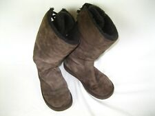 Ugg Australia Roseberry Boots Style 5734 Br Back Lace Up Sz 8 Sheepskin Lining