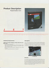 VINTAGE SUBLOGIC JET FLIGHT SIMULATOR 2.1 SCENERY IBM PC Ad Slick