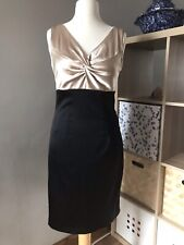 Linea Black And Gold Party Evening Cocktail Pencil Wiggle  Dress Size 10 W
