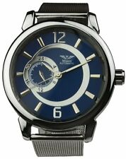 Minoir Uhren - Modell Sens schwarzgrau/blau - Automatikuhr, Herrenuhr