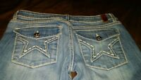 People's Liberation Distressed  Boot Cut Size 26 Women's Jeans Cropped