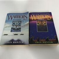 Erin Hunter Warriors The New Prophecy Books 2 and 3 Paperback Lot Moonrise Dawn