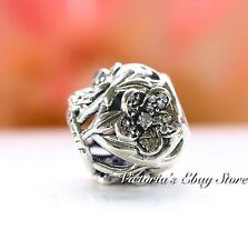 Authentic Pandora 925 Sterling Silver Charm Mystic Floral 791419CZ