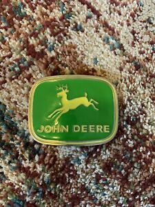 John Deere Belt Buckle Green Yellow Fits Belt