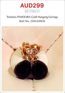 PANDORA   GENUINE 14k Gold Timeless Earrings, 250324NCK
