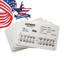USPS 10*AZDENT Dental Orthodontic Metal Brackets Brace Mini MBT Slot.022 Hooks 3