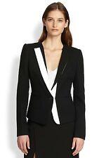 NWT $298 BCBG MAX AZRIA Marcelle Black and White Two Tone Blazer Jacket Suit M