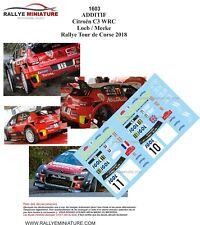 DECALS 1/43 REF 1603 CITROEN C3 WRC SEBASTIEN LOEB TOUR DE CORSE 2018 RALLYE