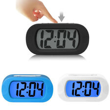 Modern Lcd Display Digital Alarm Clock Time Alarm Snooze Sound W/ Night Light US