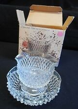 Indiana glass  Diamond Point 3 Pc. Mayo/ Sauce Set  in the Box