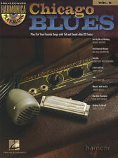 Chicago blues harmonica play-along vol 9 sheet music book/cd junior wells muddy