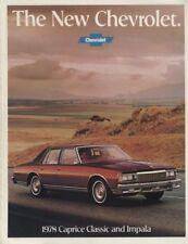1978 Chevrolet Chevy Caprice Impala Sales Brochure Book
