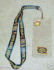Super Bowl 38 Ticket Holder Pin Patriots Panthers BONUS