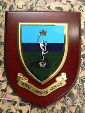 Regimental Plaque / Shield - Royal Corps Of Signals