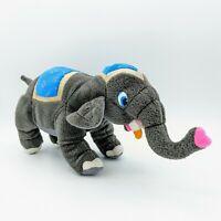 "Vintage Classic Toy Company Circus Elephant Fancy Blue 15"" Plush Stuffed Animal"