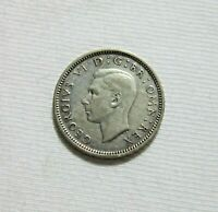 GREAT BRITAIN. SILVER 6 PENCE, 1942. KING GEORGE VI.