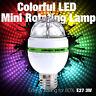 E27 3W 6W Colorful Auto Rotating RGB LED Bulb Stage Light Party Lamp Disco Club