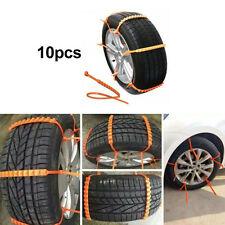 10pcs Universal 14-24'' Car Snow Ice Wheel Tire Anti-skid Chains Slip Tendon