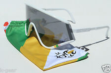 OAKLEY Eyeshade White/Black Iridium TOUR DE FRANCE COLLECTION OO9259-04 RARE