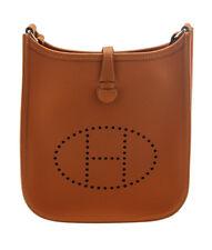 Hermes Evelyne TPM Orange Leather Crossbody Bag