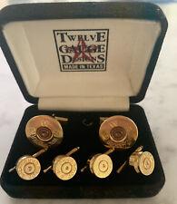 Vintage Winchester AA 12 Gauge Shotgun Shell Bullet Cufflinks & Tux Shirt Studs