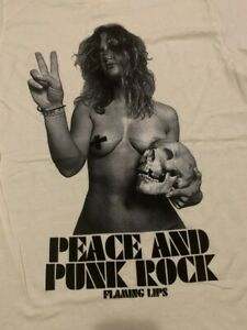 Original FLAMING LIPS Peace & Punk Rock vtg tour concert shirt M NEW/UNWORN!