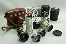 5 Lens + Kiev 4 Rangefinder Camera Contax Clone w/s JUPITER-3,8,9,11,12 finder