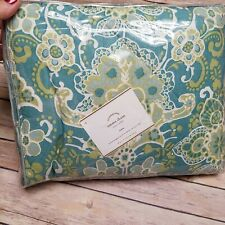 POTTERY BARN EURO Sham EMMA Blue Floral Quilted NEW Sold Out 26 x 26 NEW