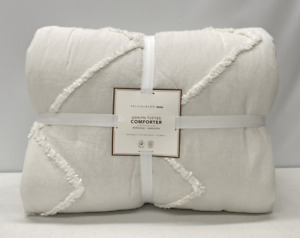 NEW Pottery Barn TEEN Ashlyn Tufted FULL/QUEEN Comforter~Ivory