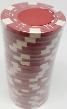 Poker Chips (25) Red Dice Mold 11.5 gram Clay Composite FREE SHIPPING *