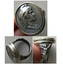 PCW-SR014-Paris - A custom-made Sterling Silver Cameo Ring.