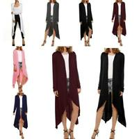 Women Casual Long Sleeve Loose Long Open Front Cardigan Outwear B98B