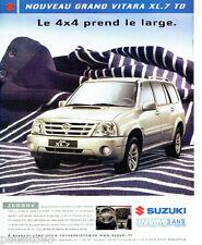 PUBLICITE ADVERTISING 026  2004  Suzuki  le Grand Vitara  XL-7 TD  4x4