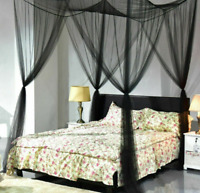 4 Corner Post Bed Canopy Mosquito Net Bedding Full/Queen/King Size Home Decor