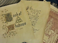 Set #1 Printed Charmed Pages for Book of Shadows 100 pages (1 of 4)